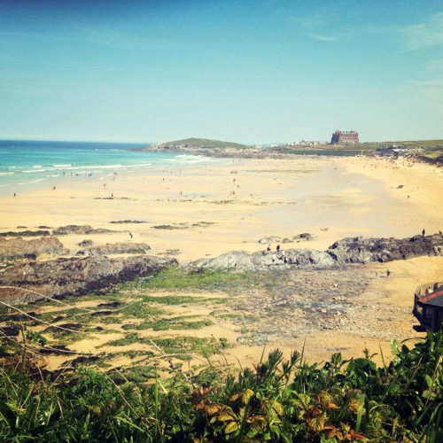 View over Fistral Beach