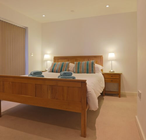main bedroom 2 fistral blue apartment newquay