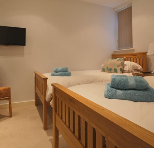 Twin room fistral blue apartment newquay
